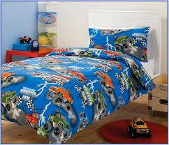 monster truck bedding jam set toddler bed sheets