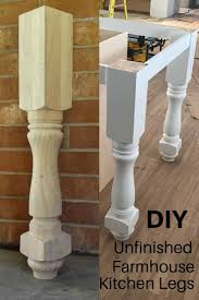 Beautiful Unfinished Farmhouse Style Kitchen Island Or Counter