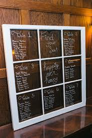 Diy Seating Chart Window Panes With Handwritten Chalk Art