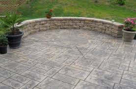 patio stamped concrete fishers in