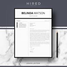 Modern Minimalist Resume Free Template Resume Templates Hired Design Studio Template In Word 2016 Belinda