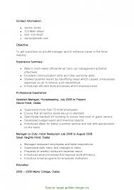 restaurant resume objective great resume objective for hotel and restaurant management