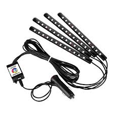 <b>1set</b> 12LED RGB Car Interior Decorative Floor <b>Atmosphere Lamp</b> ...