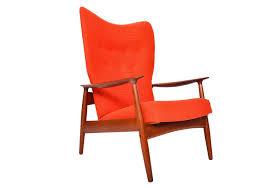 k rasmussen teak highback reclining lounge chair