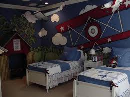 airplane bedroom themes. Fine Themes Shared Airplane Themed Boy Bedroom Intended Themes E