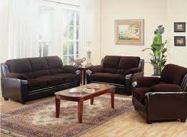 Living Room Sofa And Loveseat Sets Two Toned Dark Brown Corduroy Casual Living Room Sofa And Loveseat