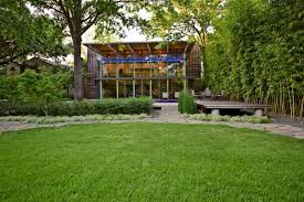 Garden Houses Transparent Glazed Home With Natural Green Garden Best Home And Garden Design Style