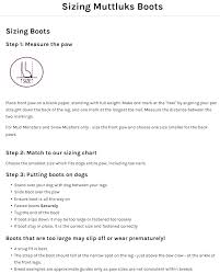 Eye Catching Muttluks Dog Boots Size Chart 2019