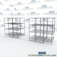alera industrial wire shelving alternative views rolling chrome steel 2