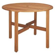 zeno 2 4 seat round folding oak garden table diameter 91cm
