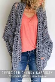 Free Crochet Vest Patterns Adorable Oversizedcrochetcardiganfreecrochetpattern Make Do Crew