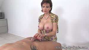 Oiled big tits milf lady sonia giving handjob at Mature Sex Pictures