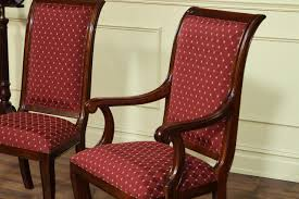 por upholstered dining arm chairs