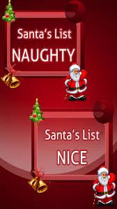 christmas card list app santa christmas naughty or nice list free app profile reviews