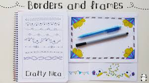 borders for cards projects planner decoration ideas