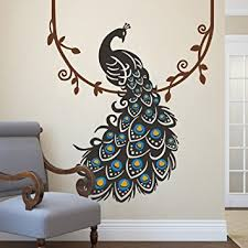 Small Picture Amazoncom Peacock Wall Decal Peafowl Wall Sticker Animal Wall