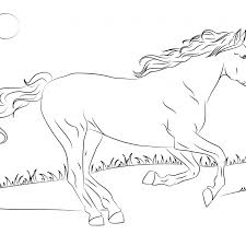 Cute Horse Coloring Pages With Horses Coloring Pages Free Coloring