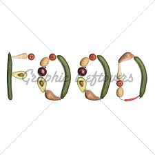the word food made out of food. Brilliant Out The Word U0027Foodu0027 Made Out Of Vegetables Isolated And Food