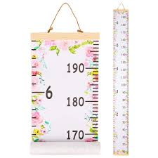 Qtgirl Kids Growth Chart Height Chart For Child Height Measurement Wall Hanging Rulers Room Decoration For Girls Boys Toddlers