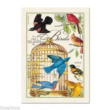 michel design works kitchen towel. michel design works cotton kitchen tea towel birdcage birds - new r