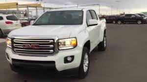 White 2015 GMC Canyon SLE 4WD Crew Cab SWB at Scougall Motors in ...