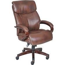 executive office chairs. la-z-boy bradley leather executive office chair, fixed arms, brown ( chairs
