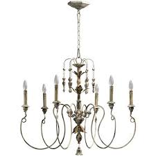 nto six light persian white chandelier