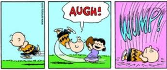 Image result for lucy pulls football away from charlie brown