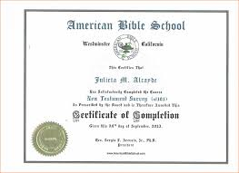 11 Sample Certificate Of Completion Job Resumes Word