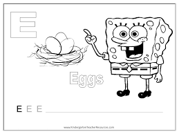 SpongeBob Alphabet Worksheets - Uppercase Letters