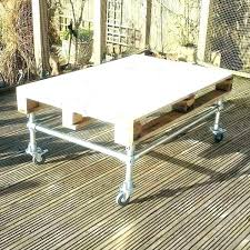 patio side table metal ideas or coffee recycled pallet rolling small sid