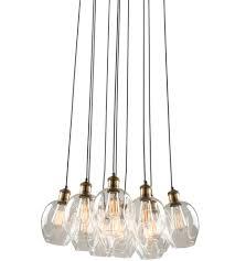 artcraft ac10731vb clearwater 10 light 22 inch vintage brass chandelier ceiling light