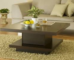 Idea Coffee Table Creative Idea Contemporary Living Room With Square Dark Brown