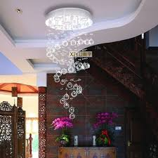 get ations 40 120 cm artistic living room chandelier lighting crystal chandelier crystal lamp bedroom ceiling spiral