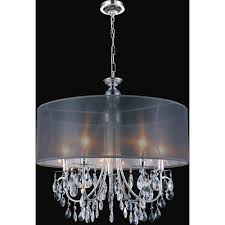 cwi lighting halo 8 light chrome chandelier with black shade