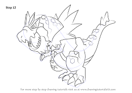 Learn How to Draw Tyrantrum from Pokemon (Pokemon) Step by Step : Drawing  Tutorials