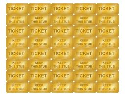Numbered Raffle Ticket Template Free Free Printable Golden Ticket Templates Blank Golden Tickets Cool 13