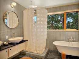 shower stall remodel Bathroom Modern with ceiling lighting corner
