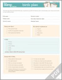 Customizable Visual Birth Plan The Bump Birth Plan Tool