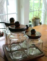 clear glass kitchen canisters containers with lids