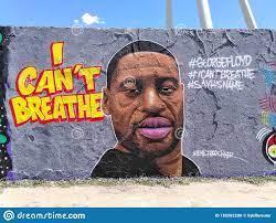 George Floyd I Can`t Breathe Graffiti ...