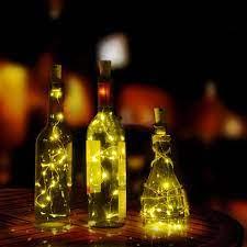 Dây Đèn Led 10 Bóng Dài 1m Hình Nút Bần Dùng Trang Trí Chai Rượu chính hãng  20,400đ