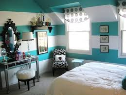 Bedroom:Amusing Bedroom Decorating With Turquoise Headboard And Stripped  Curtain Ideas Interesting Bedroom Design With