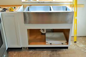 17 Farmhouse Sink Cabinet Base A White Farmhouse Sink With Black