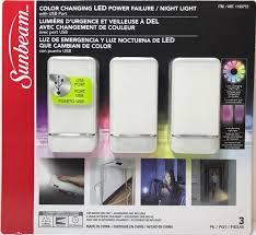 Sunbeam Night Light Sunbeam Color Changing Led Power Failure Night Light With Usb Port 3 Pk 120v For U S Only