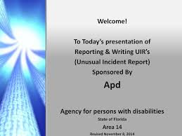 Welcome Apd To Todays Presentation Of Reporting Writing