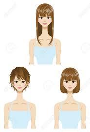 ストレートのロングヘア髪型セット 3 種類の長さ短く媒体長い髪の