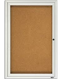 Quartet 40 Enclosed Cork Outdoor Bulletin Board 40x40 Awesome Exterior Bulletin Boards Model Collection