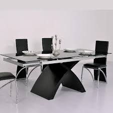 Table De Cuisine En Verre Avec Rallonge Amazing Table De Cuisine En