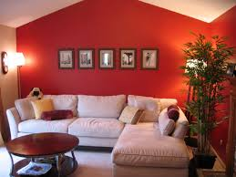 Great room with red walls